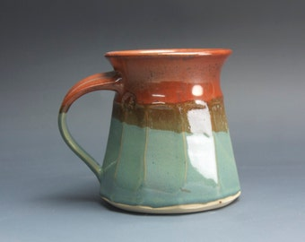 Sale - Handmade pottery coffee mug, stoneware tea mug, ceramic tea mug 14 oz 3835