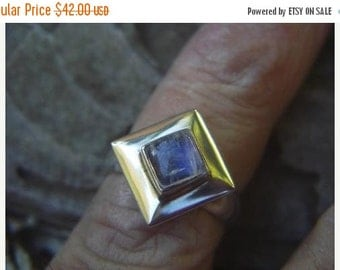ON SALE Rainbow moonstone ring in sterling silver