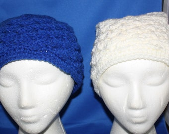 Hand Crochet Messy Bun Hat for Double Buns or Pig Tails
