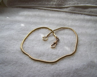 Gold Krementz Snake Fob Pocket Watch Chain