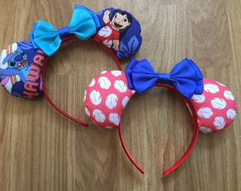 Lilo and Stitch inspired Mickey/Minnie Disney ears