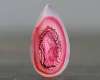 Rose Quartz Drusy, Polished Geode Flat Back Jewelry Designing Stone, Crystallized Bezel Edge Druzy Gemstone Cabochon (20569)