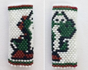 Yoshi Custom Sized Peyote Stitch Dreadlock Beads - Insprired by Mario on Nintendo