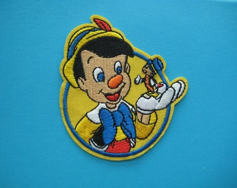 Iron-on Embroidered Patch Pinocchio 3.25 inch