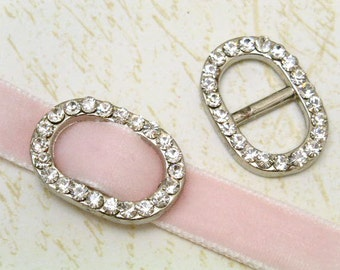 6pcs 16x20.5mm clear rhinestone in round RECTANGLE buckle frame