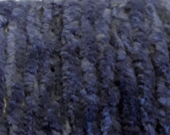 Chenille Trim, Thunder Cloud, Lady Dot Creates, Chenille,Hand Dyed Chenille, Cotton Chenille, Sewing Notion, Sewing Accessory, Sewing Trim