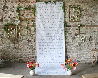 Wedding Backdrop, song lyrics background