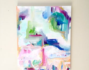 SALE - Large Abstract Acrylic Painting - Abstract Expressionism - Large Abstract - Original Art - Spring Abstract - Colorful Abstract Art
