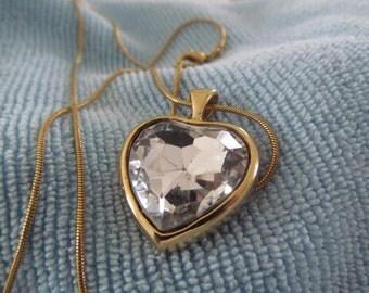 Brillant Crystal Heart Necklace