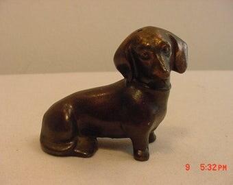 Vintage Miniature Metal Dachshund Dog Figurine  17 - 457