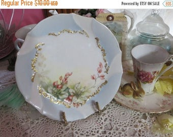 Store Closing SALE Vintage Hand painted Plate-Limoges-Marked-Dessert-Currents-6.75 inches