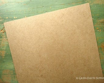 "50 11""x14"" THICK 50 pt chipboard sheets (279x355 mm) kraft brown chipboard, recycled, 50pt (.050"") 1mm thick, for protecting 11x14 prints"