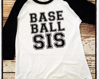 baseball sis sister shirt
