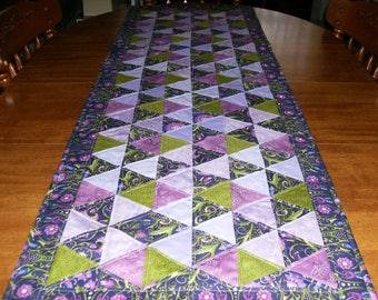Purple Lovers Quilted Table Runner