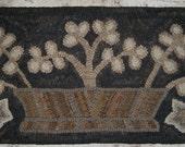Primitive Rug Hooking Pattern~Antique Clover Basket