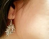 Marcasite Horse Head Earrings Sterling Silver,Horse Earrings,Equestrian Jewelry