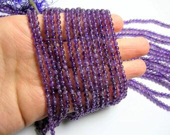 Amethyst - 4mm( 3.9mm)  round - 103 beads - full strand - RFG951