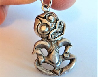 Unusual Tribal Character Charm... Sterling Silver... African?... Playful Devil?