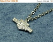SALE Harley Davidson Necklace, Silver Charm and Chain