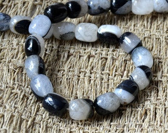 Single black column agate stone nugget stone Beads, stone beads,agate stone beads loose strands