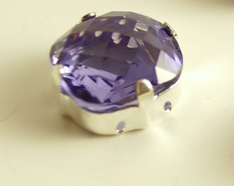 Swarovski Tanzanite Purple 4461  Checkered Board  Sew Ons 12mm (2)