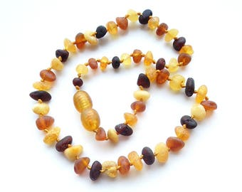 """12.2"""" Natural Baltic Amber child necklace, unpolished beads, teething necklace, amber baby necklace"""
