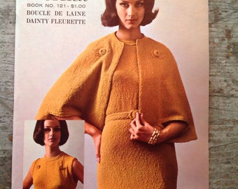 Vintage 1964 Bernat Yarn Knitting Pattern Book 121