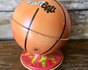 Vintage Ohio Art Globe Basketball Small Bank Tin Adorable