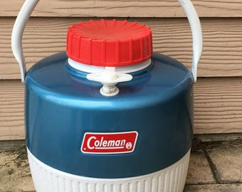 Coleman Hot/ Cold Thermos Canteen Blue 1960's
