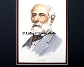 Civil War General Robert E Lee Matted Print Lafayette Ragsdale