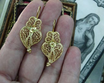 Witches Heart Earrings, Talismans for the Elemental Woman, offered by RusticGypsyCreations