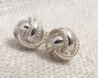Love Knot Sterling Silver Stud Earrings