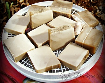 Patchouli Geranium Rose Goats Milk African Black Mineral Mud Soap 4 oz. Bar