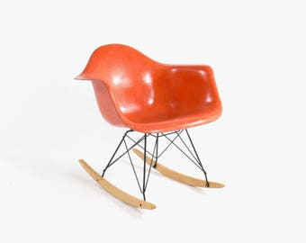 Eames for Herman Miller Fiberglass Rocking Chair-RAR