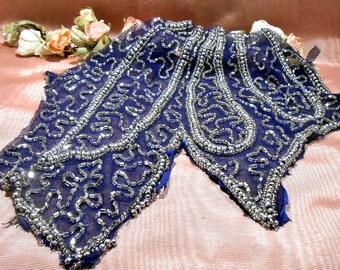 Vintage Remnant Beaded Remnant Craft Supply Embellishment