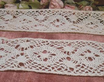 Vintage Lace Trim 1930s Torchon Cotton Lace