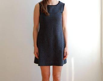 vintage grey sleeveless dress