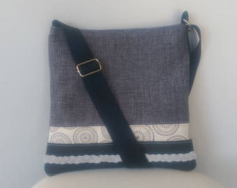 Tote with Leather and Suede Plait