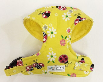 Metallic Ladybug Comfort Soft Dog Harness -Made to Order -