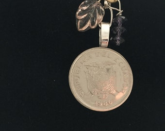 Coin Necklace - Ecuador 1986