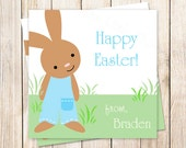 PRINTABLE . easter tags . easter favor tags . easter gift tags . personalized . stickers . easter bunny . happy easter . boy rabbit