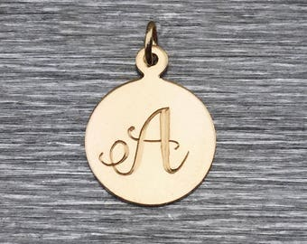 Gold Initial Charm Only – Gold Letter Charm – Gold Personalized Charm – Minimal Necklace – Gold Filled Charm – Personalized Initial Charm