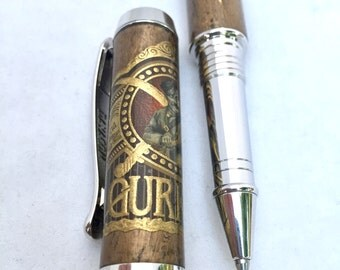 Hand Crafted Pen ** Cigar Pen - GURKHA Cigar ** Gift for Cigar Lover ** Gift for Dad ** Gift for Husband ** Gift for boyfriend