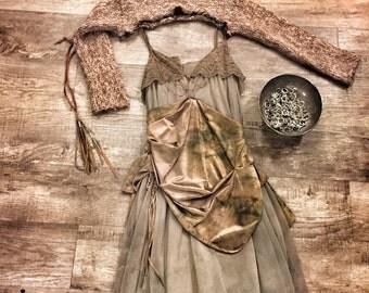 Faerie Dress / Blush Sheer Dress / Faerie Prom Dress