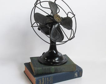 "1920s Robbins & Myers Table Top Fan ""Early 20th Century Industrial Beauty"""