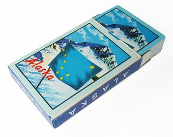 1960s Alaska Souvenir Playing Cards - Sealed, Never Played With - New in Box
