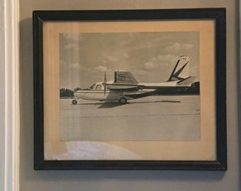 Vintage Photography Airplane photo black and white