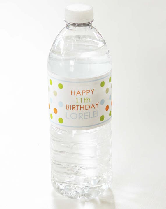 Sloth Party Water Bottle Labels From Bushelandpeckpaper