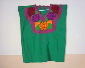 green blouse  huipil  mexican blouse
