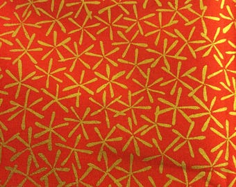 Fabric Alexander Henry Omodaka 2006 Collection - Out Of Print  FAT QUARTERS Metallic